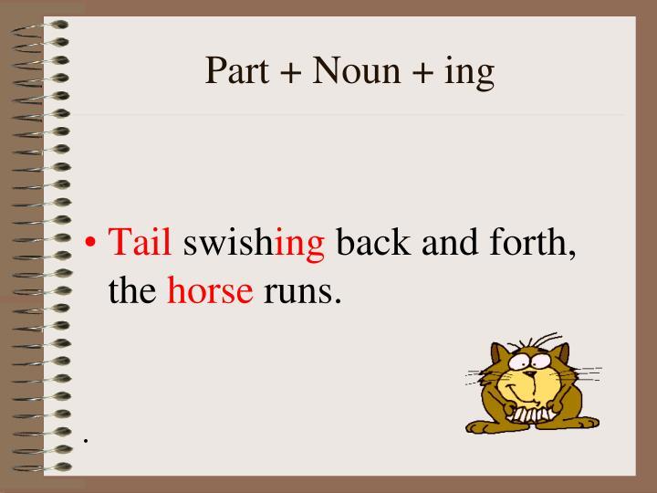 Part + Noun + ing