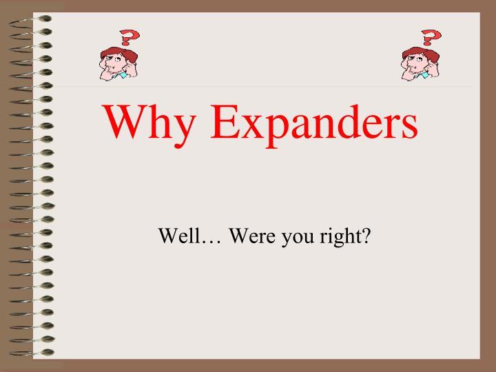 Why Expanders
