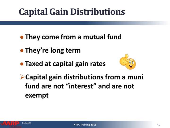 Capital Gain Distributions