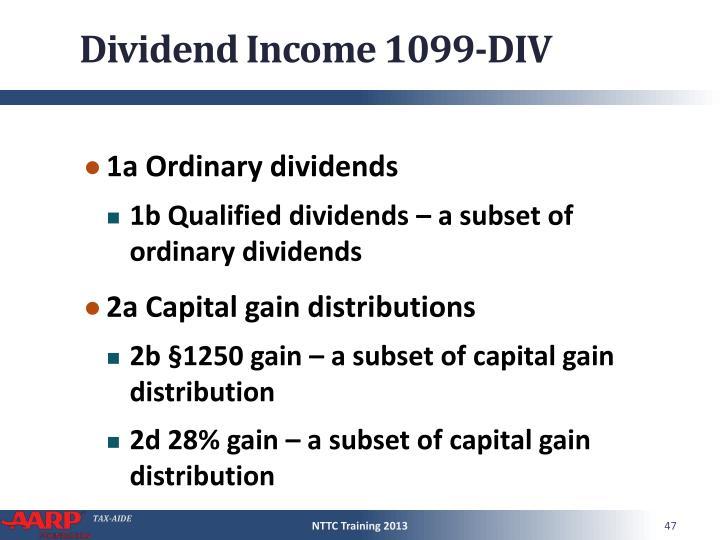 Dividend Income 1099-DIV