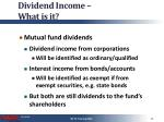 dividend income what is it3