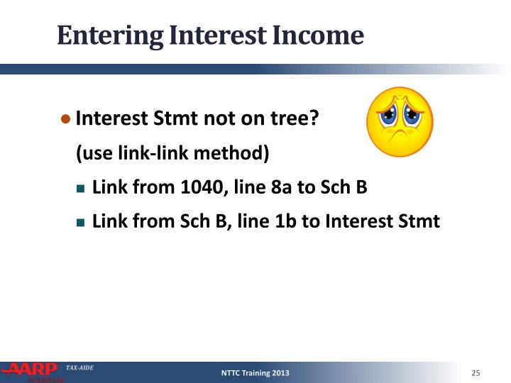 Entering Interest Income