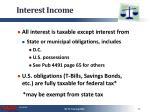 interest income1