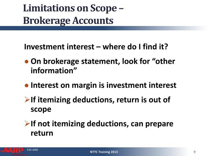 Limitations on Scope –