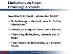limitations on scope brokerage accounts1