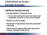 limitations on scope foreign accounts