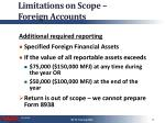 limitations on scope foreign accounts3