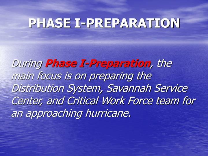 PHASE I-PREPARATION