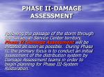 phase ii damage assessment