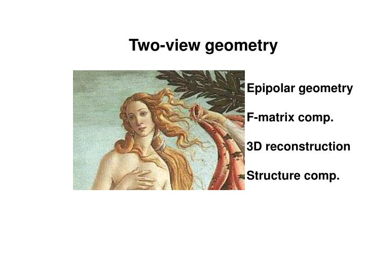 Two-view geometry