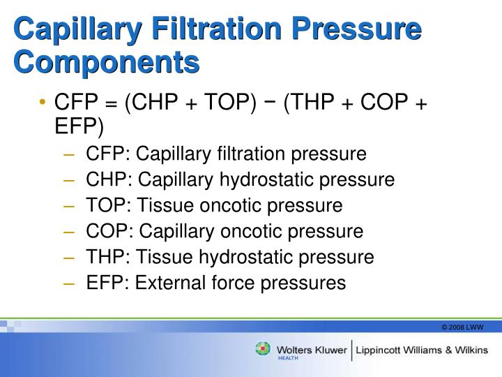Capillary Filtration Pressure Components