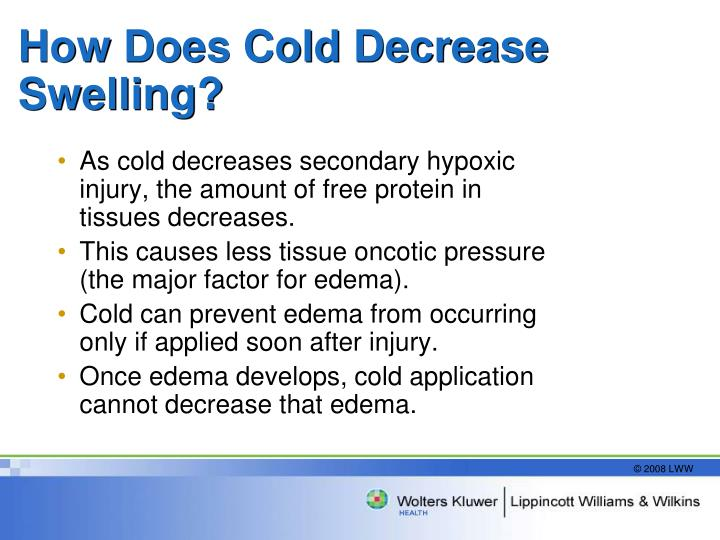 How Does Cold Decrease Swelling?