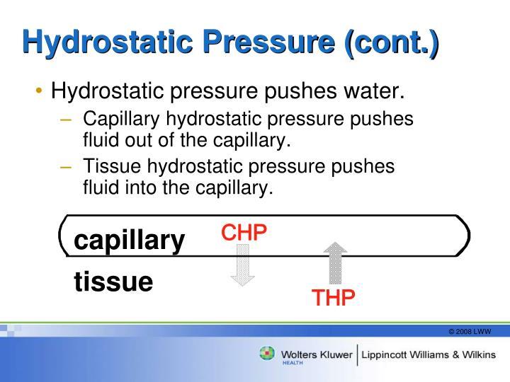 Hydrostatic Pressure (cont.)