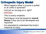 orthopedic injury model