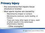 primary injury