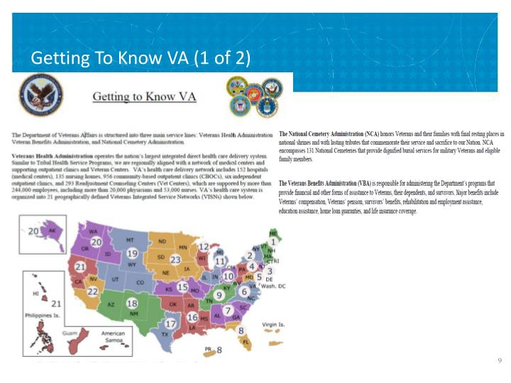 Getting To Know VA (1 of 2)