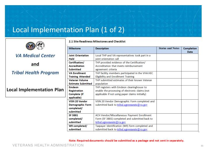 Local Implementation Plan (1 of 2)