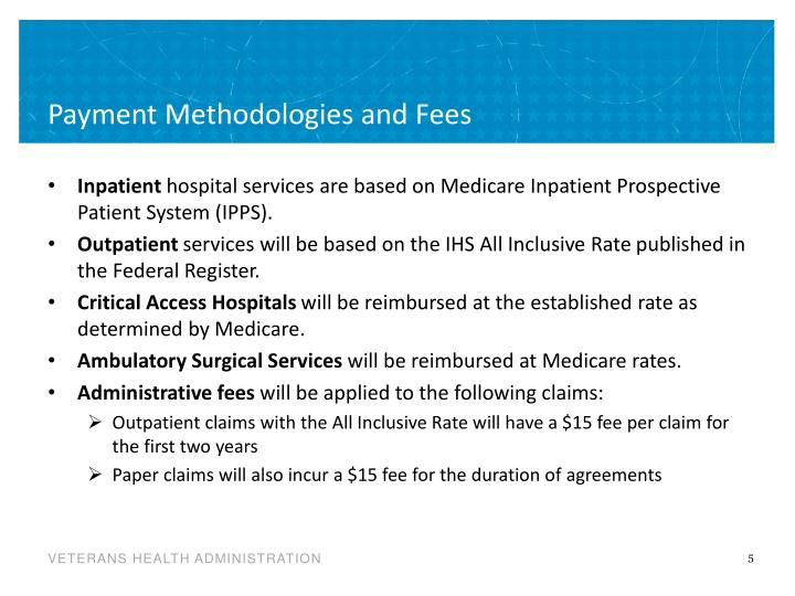Payment Methodologies and Fees