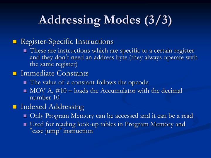 Addressing Modes (3/3)