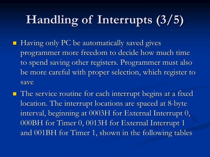 Handling of Interrupts (3/5)