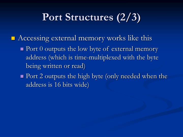 Port Structures (2/3)