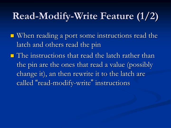 Read-Modify-Write Feature (1/2)