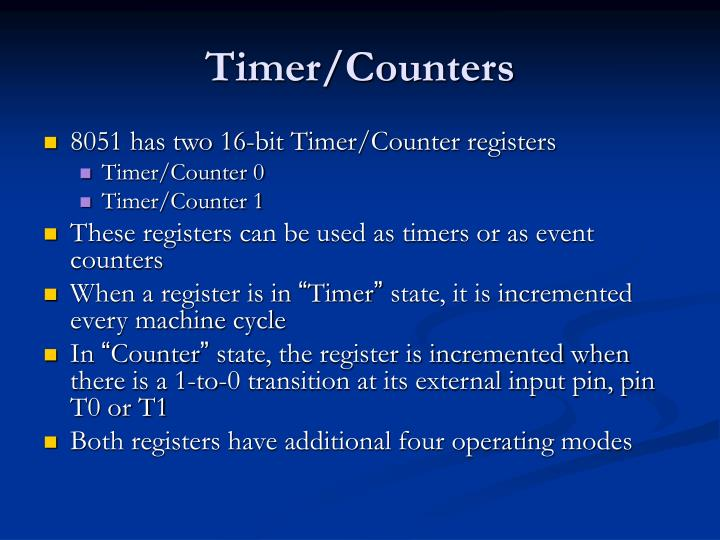 Timer/Counters