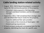 cable landing station related activity