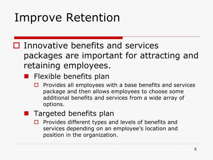 Improve Retention