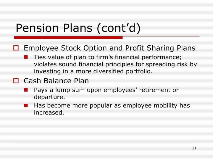 Pension Plans (cont'd)