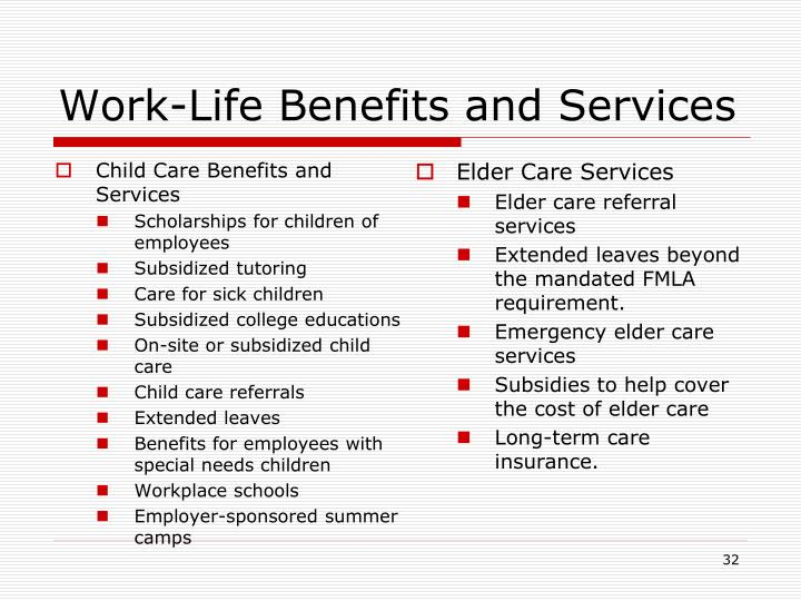 Child Care Benefits and Services