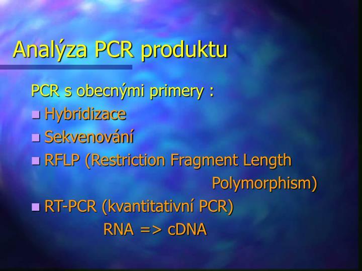 Analýza PCR produktu