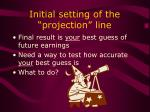 initial setting of the projection line2