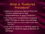 what is preferred procedure