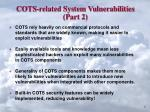 cots related system vulnerabilities part 2