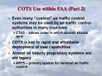 cots use within faa part 2
