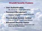 oracle8 i security features
