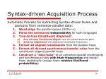 syntax driven acquisition process
