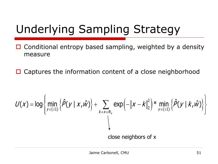 Underlying Sampling Strategy