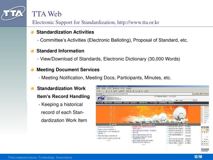 TTA Web