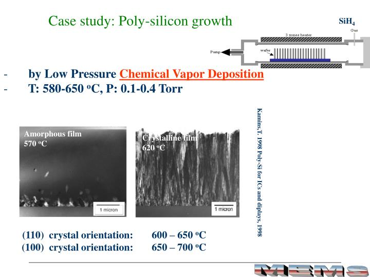 Case study: Poly-silicon growth