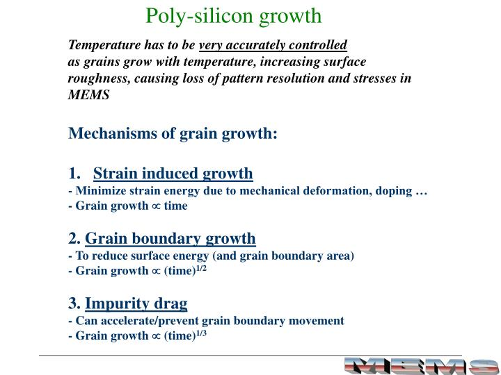 Poly-silicon growth