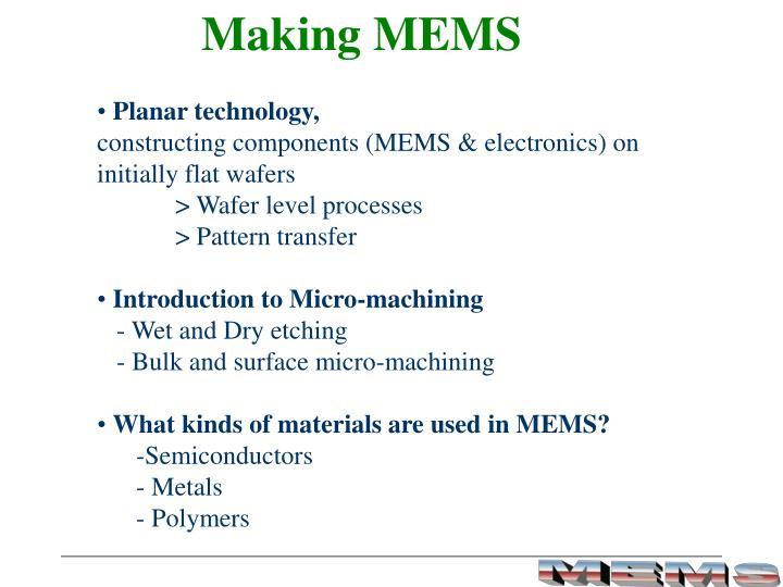 Making MEMS