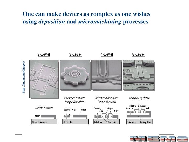 One can make devices as complex as one wishes