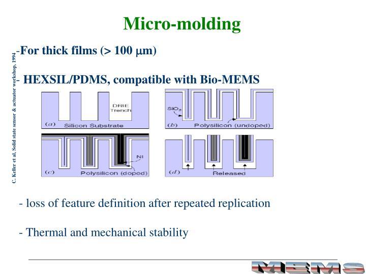Micro-molding