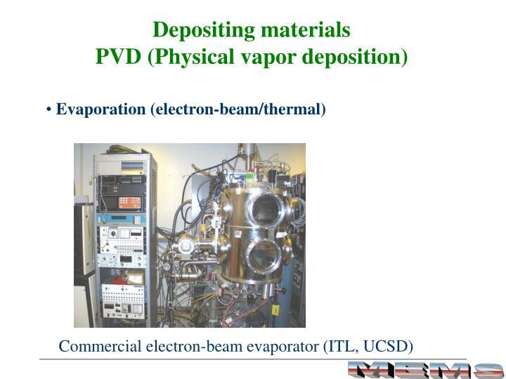 Depositing materials