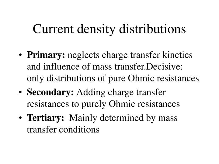 Current density distributions