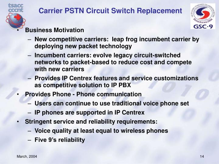 Carrier PSTN Circuit Switch Replacement