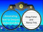 annotating text to deepen understanding