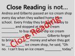 close readi ng is not
